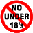 No Under 18 allowed